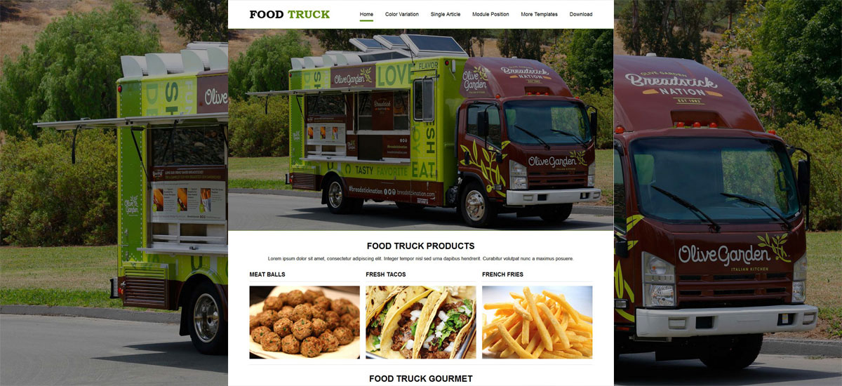 jsr food truck joomla templates
