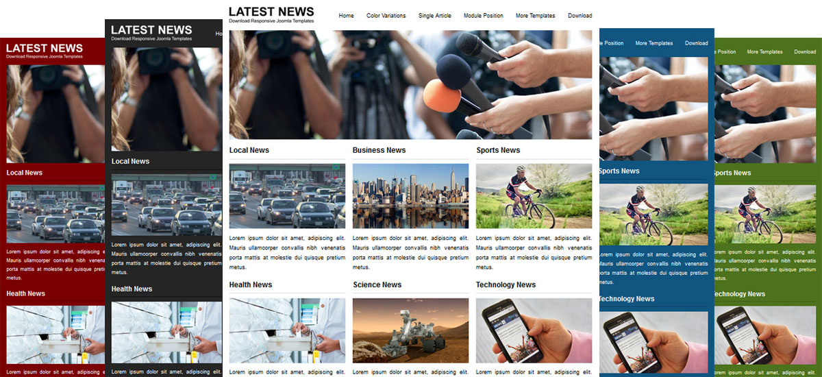 JSR Latest News Joomla Templates for News and Magazine
