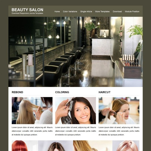 Beauty Salon Joomla Templates