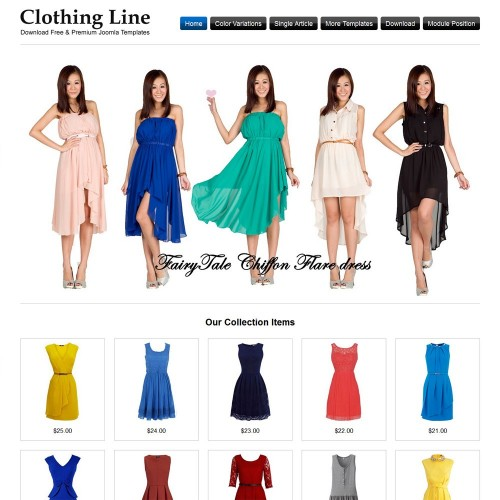 Clothing Line Joomla Templates