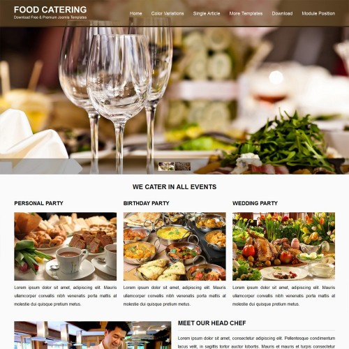Food Catering Joomla Templates