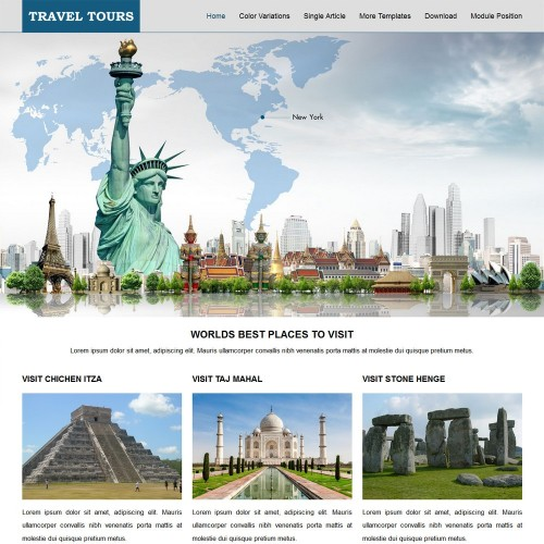 Travel Tours Joomla Templates